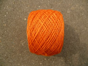 Leinengarn 3-fach gezwirnt, 50g, orange
