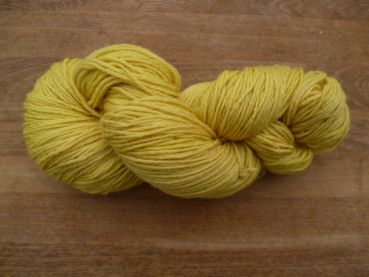 Wollgarn 12/4, 100g goldgelb